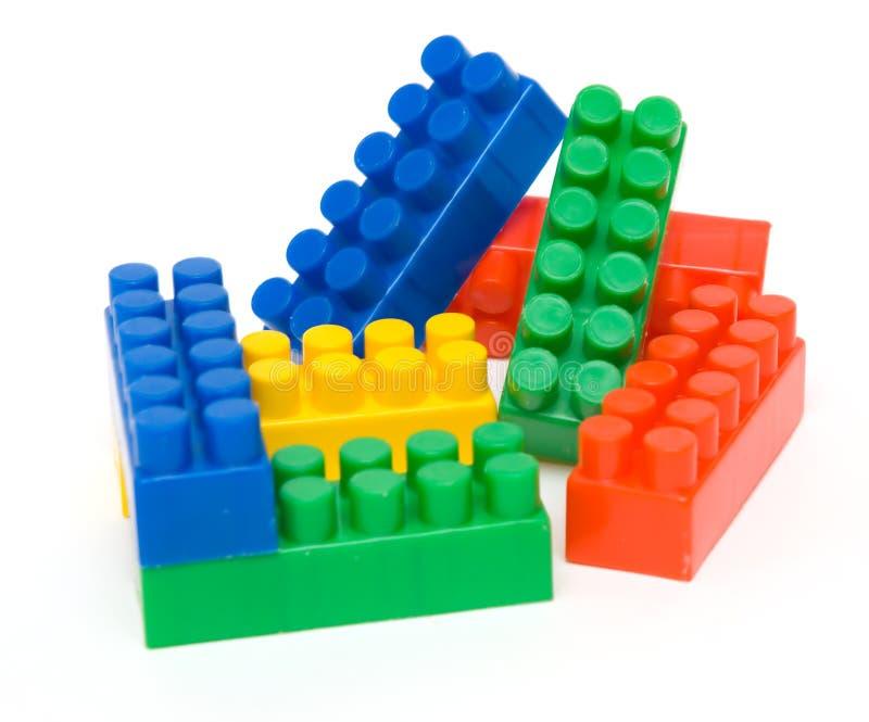 Coloured toy blocks royalty free stock photo