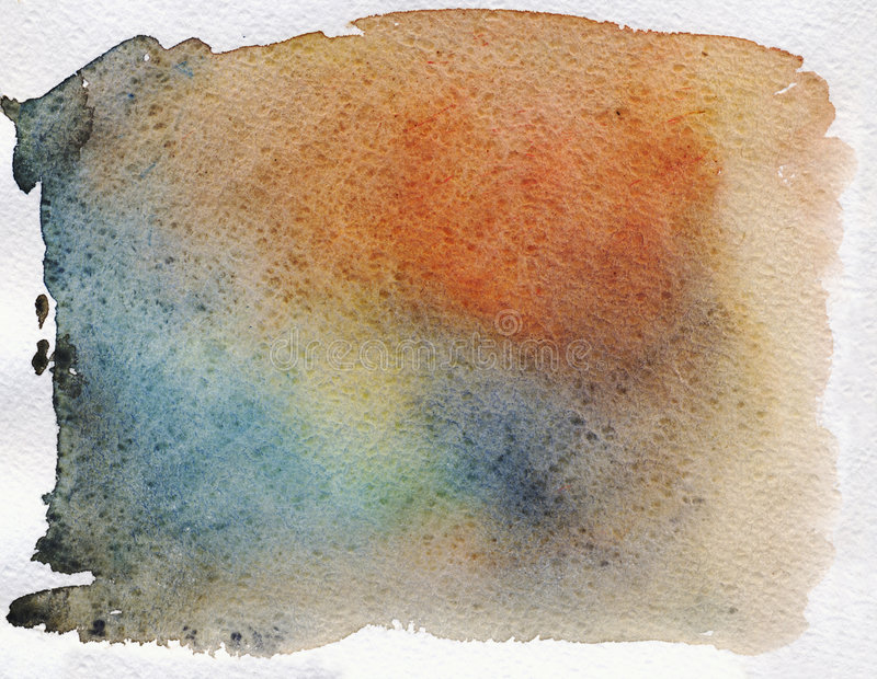 Coloured Watercolor Background stock photography