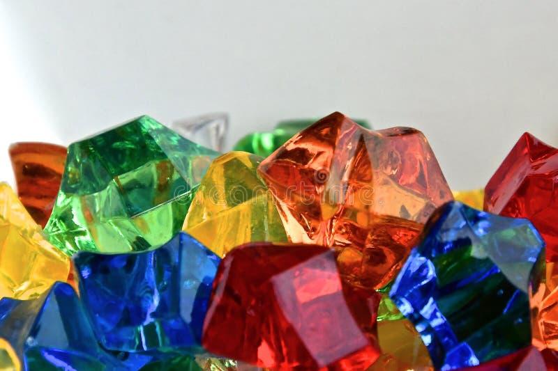 Colourfel translucent jewels stock photos
