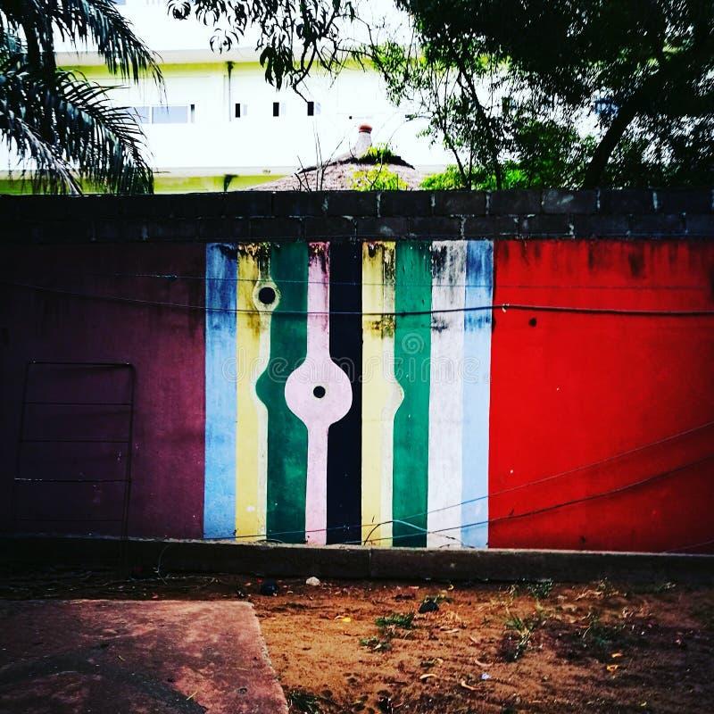 Colourfoul vägg arkivfoton