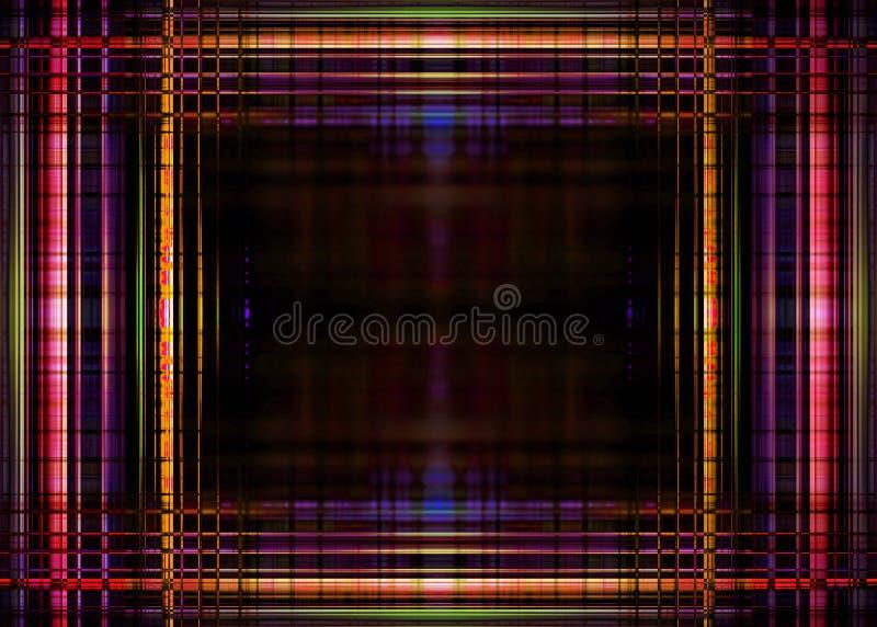 Colourful światło granica na czerni ilustracja wektor
