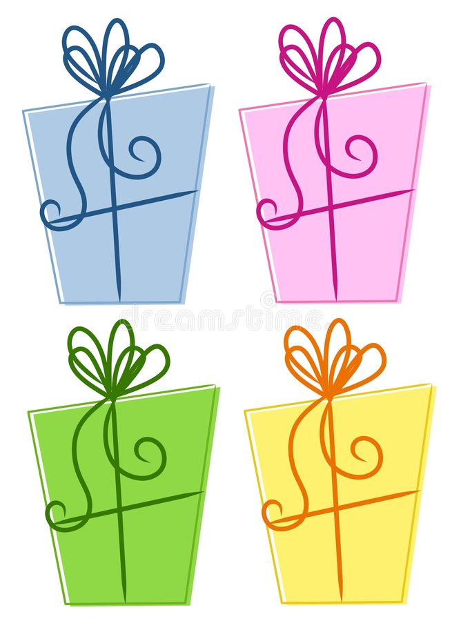 Colourful Abstract Gift Boxes vector illustration