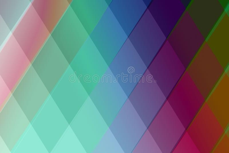 Colourful abstract lozenge geometric shapes background royalty free stock photos