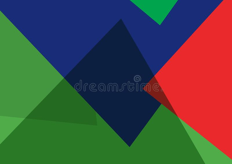 Colourful Abstract Triangular Background  stock illustration