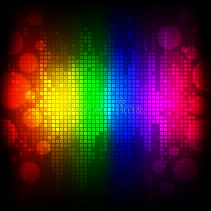 Colourful Abstrakcjonistyczny tło ilustracja wektor