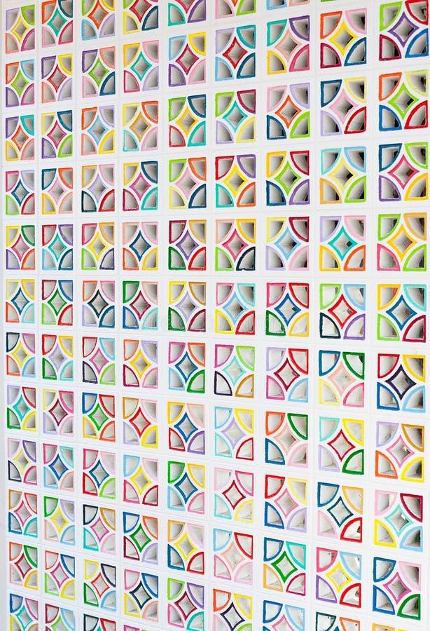 Colourful Air Brick Wall stock photos
