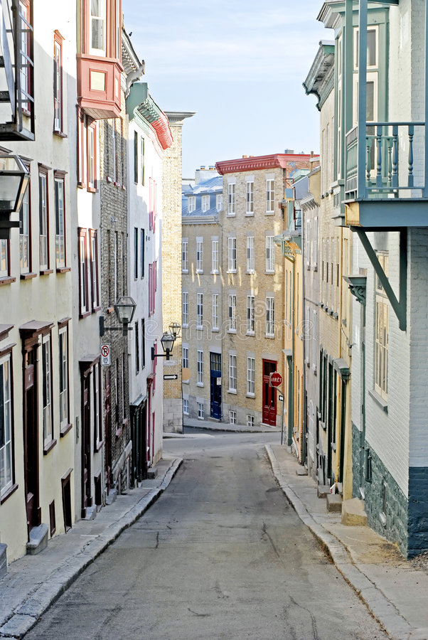 Colourful Alley, Quebec City stock images