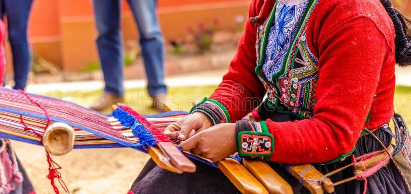 Colourful, Alpagowej wełny handmade lavoration, Peru zdjęcie royalty free