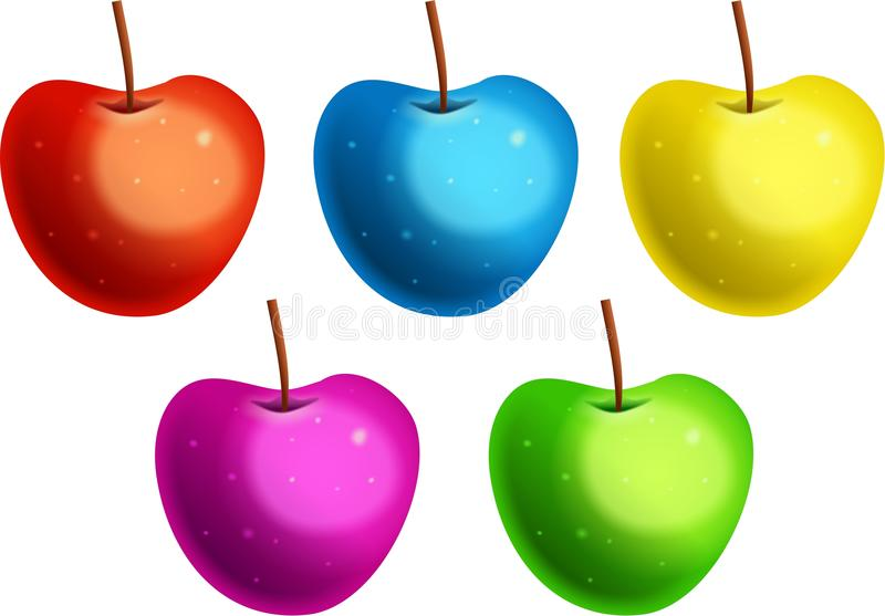 Colourful Apples vector illustration