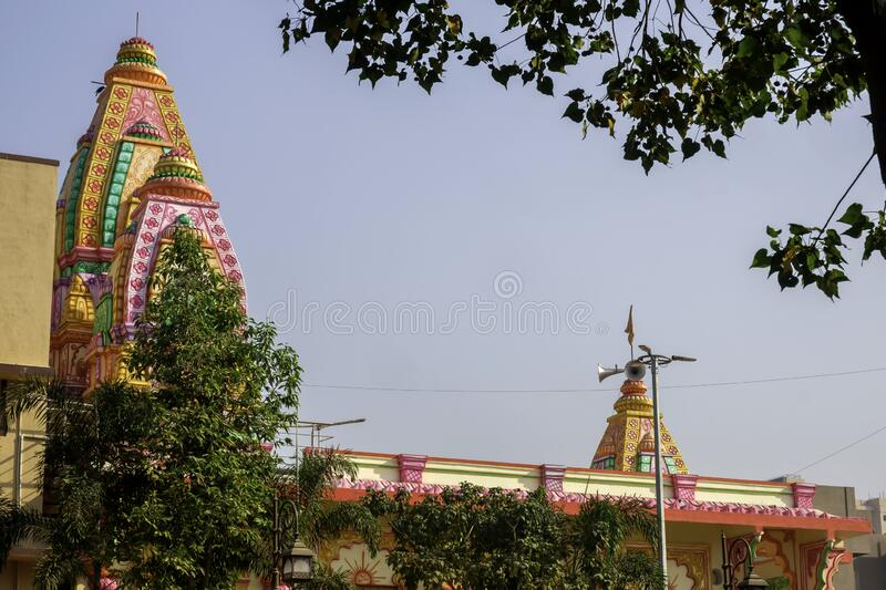 Colourful and Artistic Hindu Temple royalty free stock images