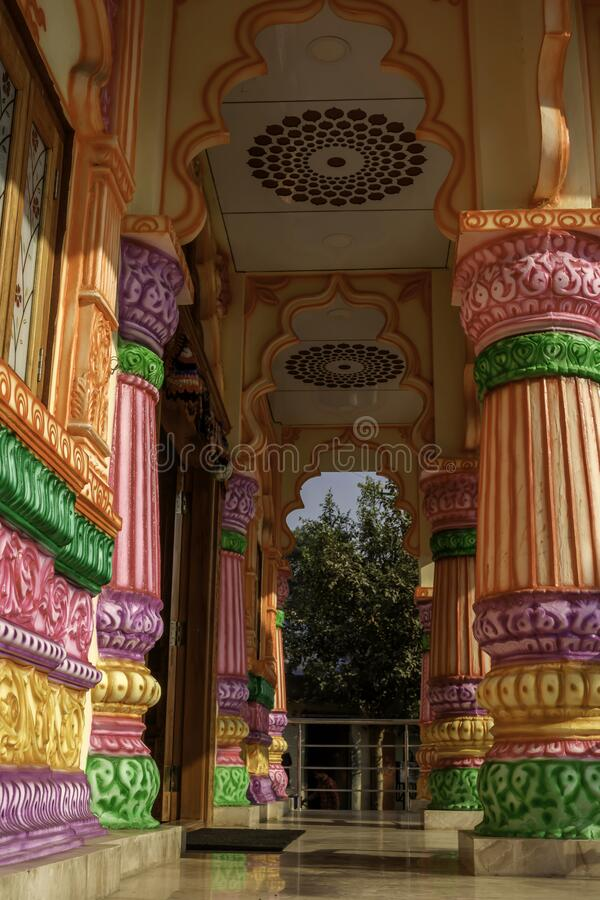 Colourful and Artistic Hindu Temple royalty free stock photos