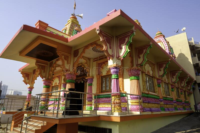 Colourful and Artistic Hindu Temple stock images