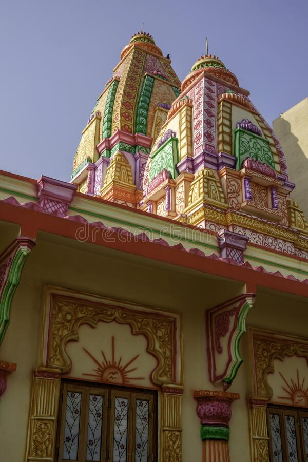 Colourful and Artistic Hindu Temple stock photo