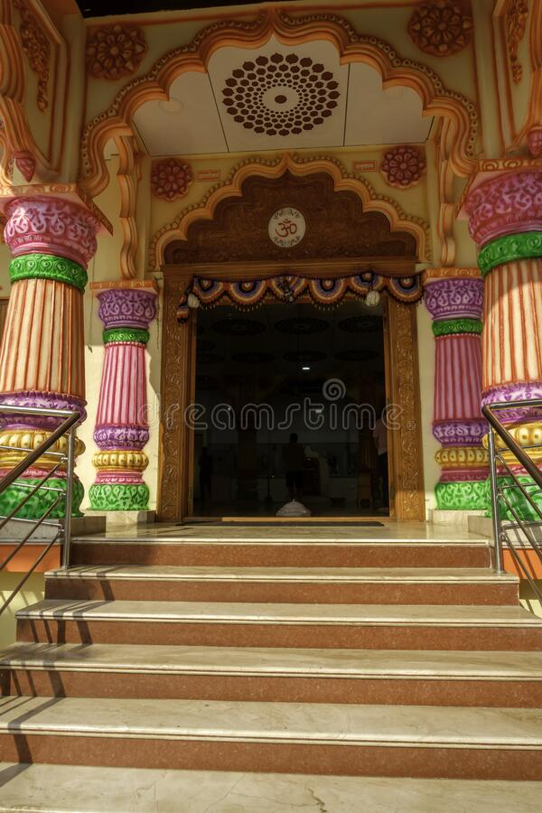 Colourful and Artistic Hindu Temple royalty free stock photography