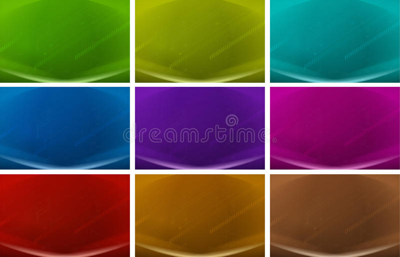 Colourful backgrounds vector illustration