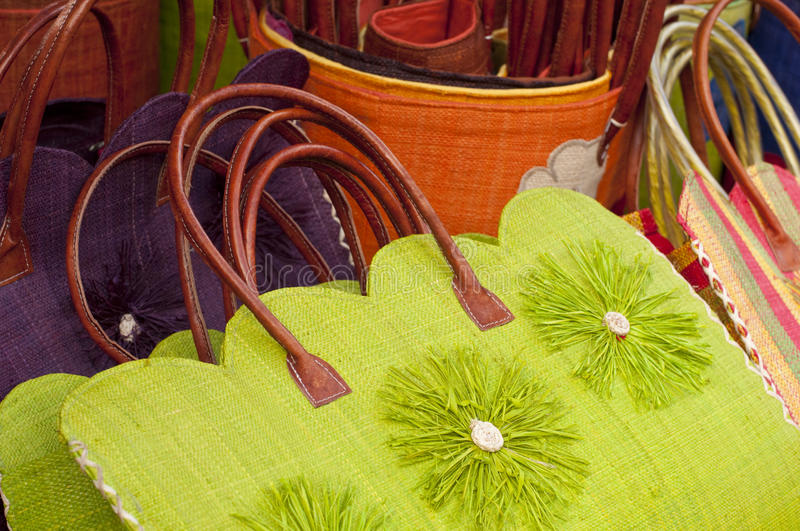 Colourful bags stock image