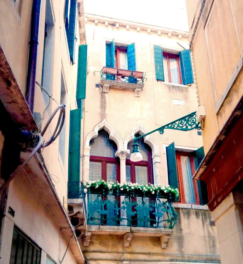 Colourful balconys royalty free stock images