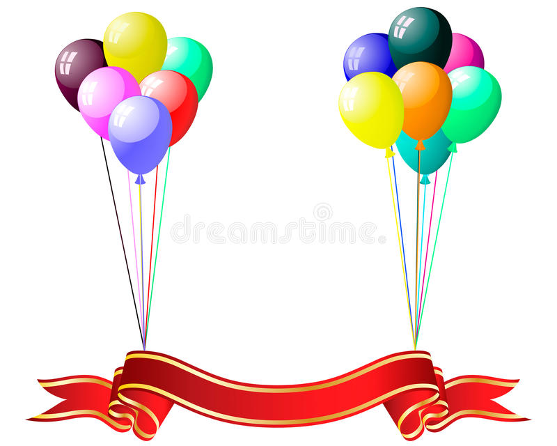 Download Colourful Balloons With Glare Stock Vector - Image: 10405870