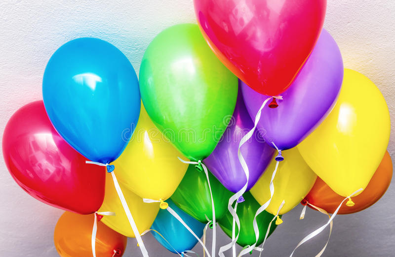 Colourful balloons in a party.  stock photography