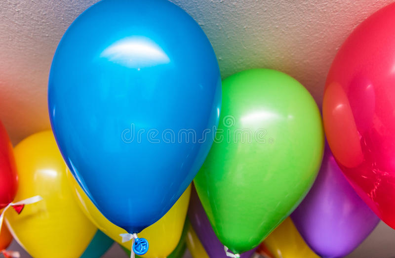 Colourful balloons in a party.  royalty free stock photos