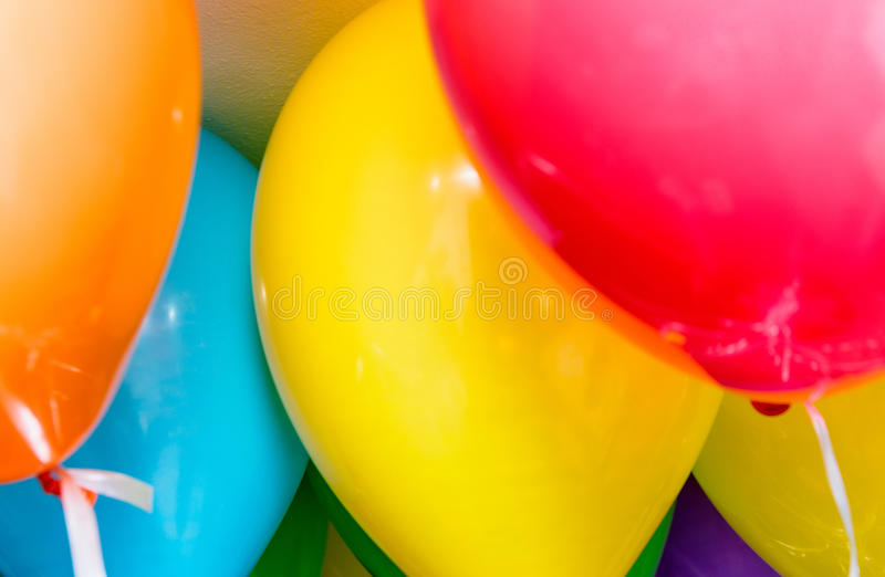 Colourful balloons in a party.  royalty free stock photography