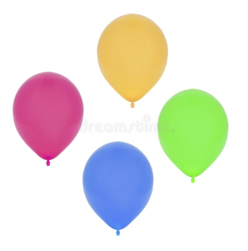Colourful balloons on white royalty free stock images