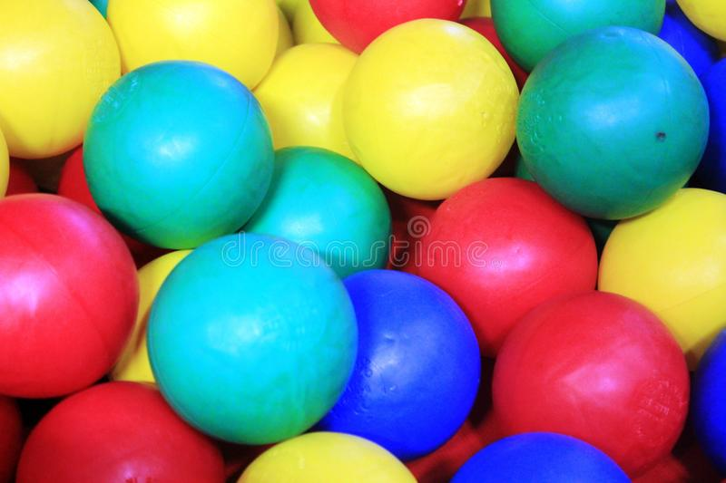 Colourful balls for kids stock photo