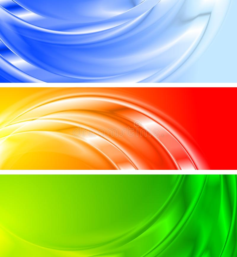 Colourful Banners (NO Gradient Mesh) Royalty Free Stock Photo