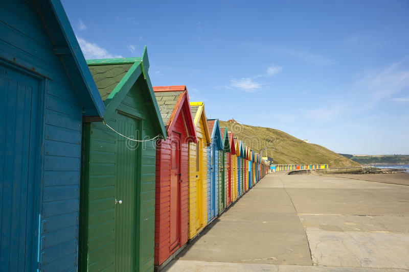 Download Colourful beach huts stock photo. Image of coast, blue - 10396072