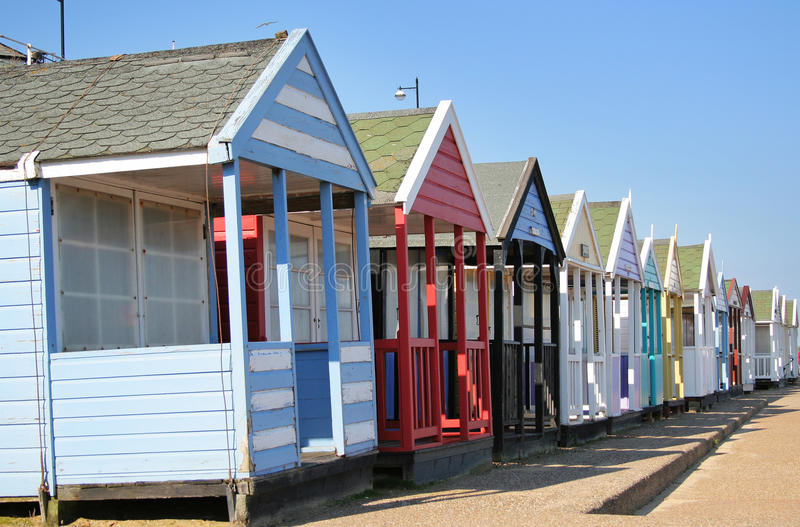 Download Colourful Beach Huts stock image. Image of coastal, vacations - 28459577