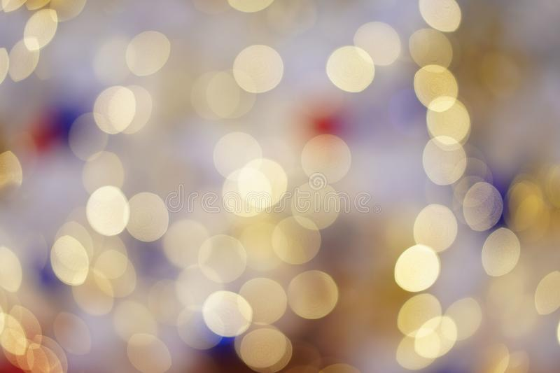 Colourful & Beautiful Blurry circle bokeh, out of focus background in the Christmas concept and theme royalty free stock photo