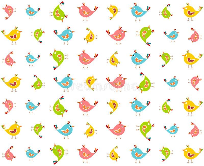Colourful birds pattern. Vector illustration of colourful birds pattern vector illustration