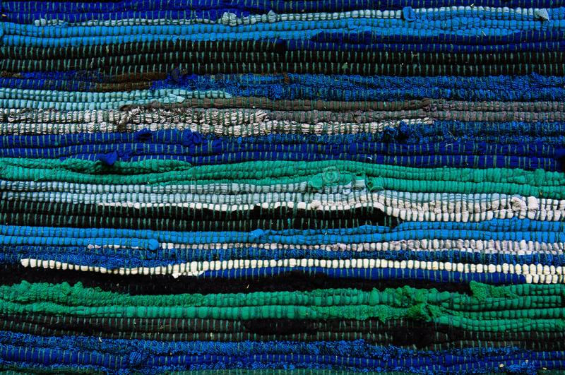 Colourful Blue and green fabric abtract background stock photography