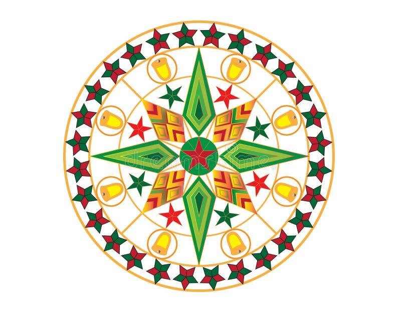 Colourful Bożenarodzeniowy lampion obrazy stock