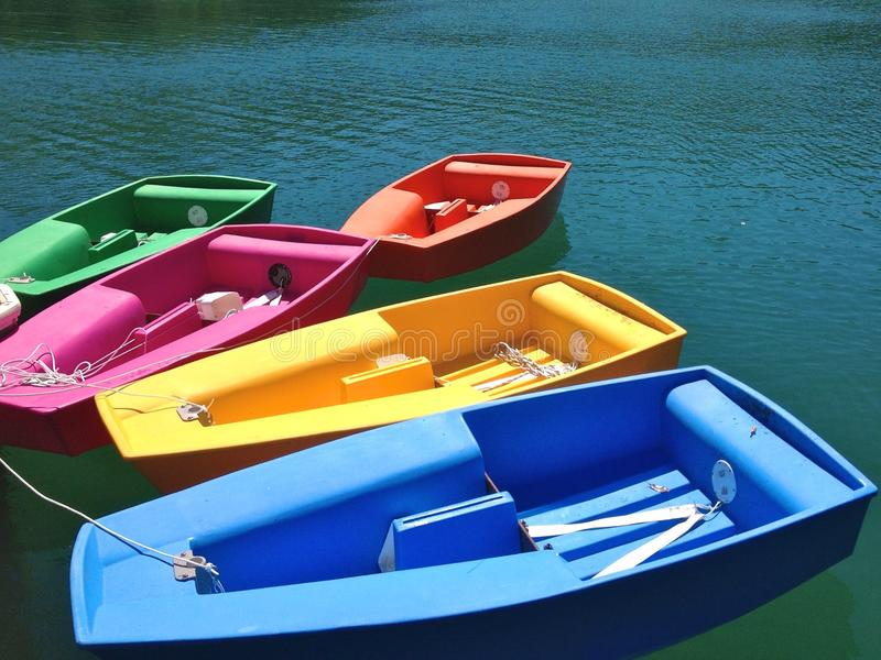 Colourful Boats royalty free stock images