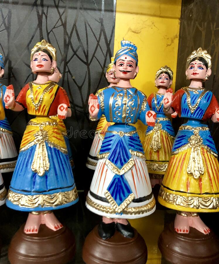 Free Colourful Bobble Head Dolls In Thanjavur, Tamil Nadu Stock Images - 182608884