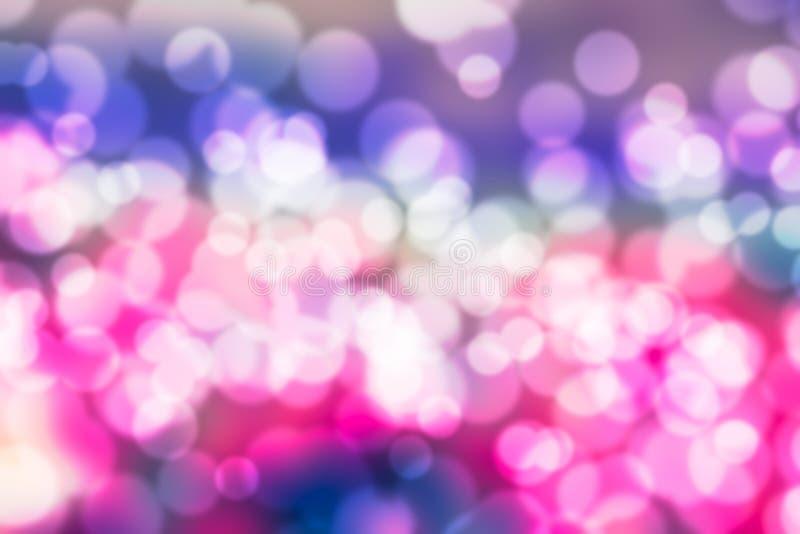 Colourful bokeh błękita światło zamazujący obraz royalty free