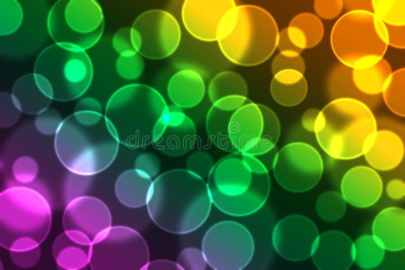 Colourful bokeh royalty free stock image