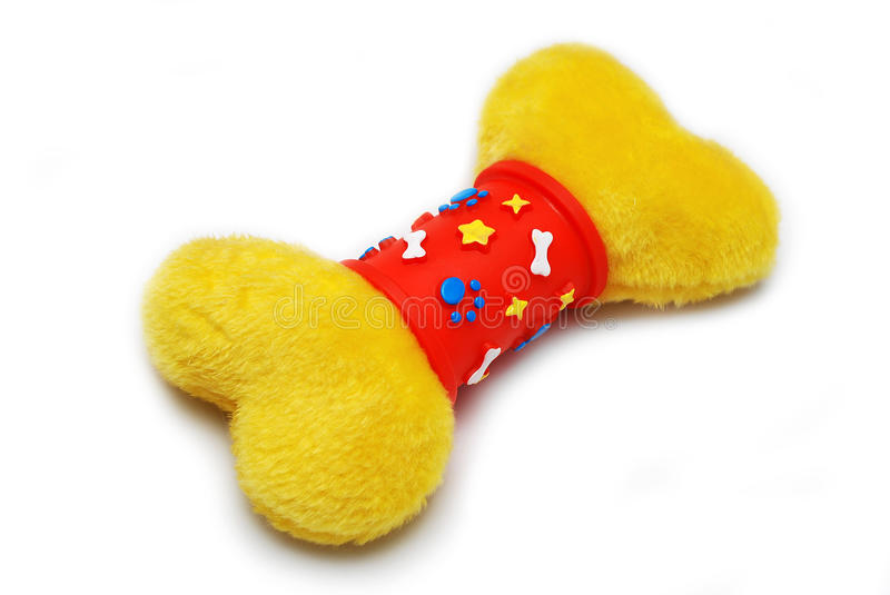 Colourful bone toy for dog stock image