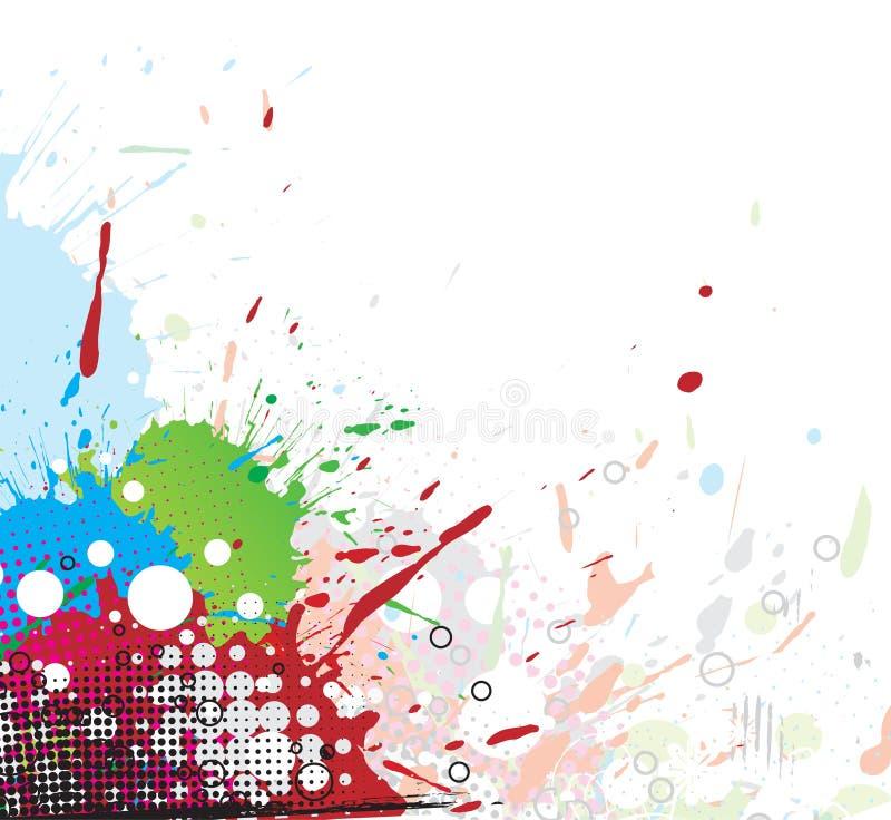 Colourful bright ink splat design