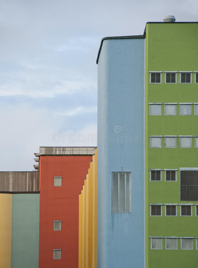 Download Colourful building stock image. Image of production, industrial - 22900351