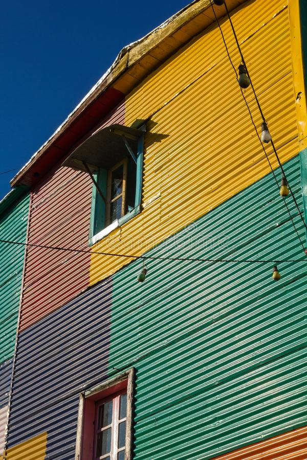 The colourful buildings of La Boca, Buenos Aires, Argentina. Caminito, a traditional alley, of great cultural and tourism, in the district of La Boca in Buenos royalty free stock photography