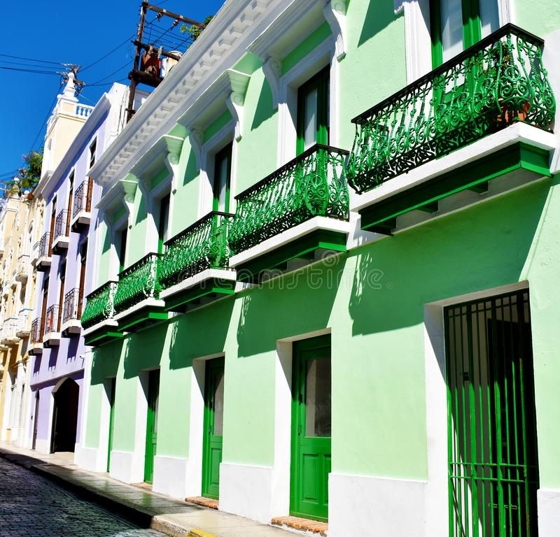 Colourful buildings in Old San Juan, Puerto Rico. USA stock image