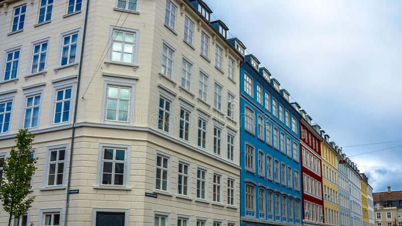 Colourful buildings stock image