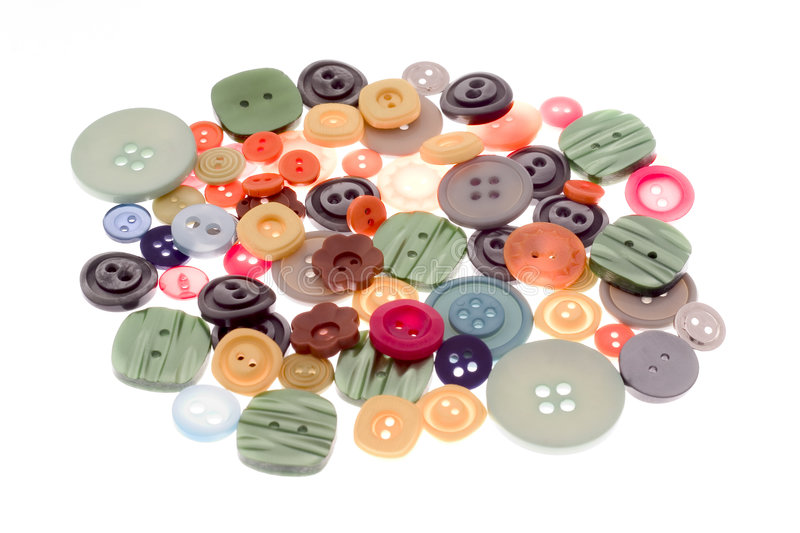Colourful buttons royalty free stock images