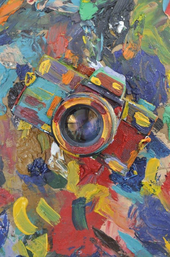 Download Colourful camera stock image. Image of artwork, media - 21067353
