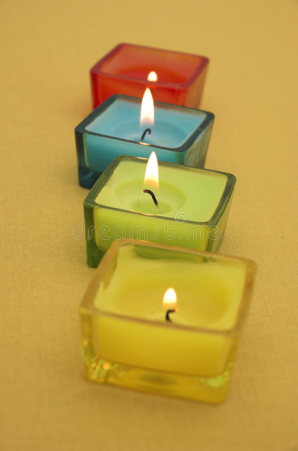 Colourful candles royalty free stock photos