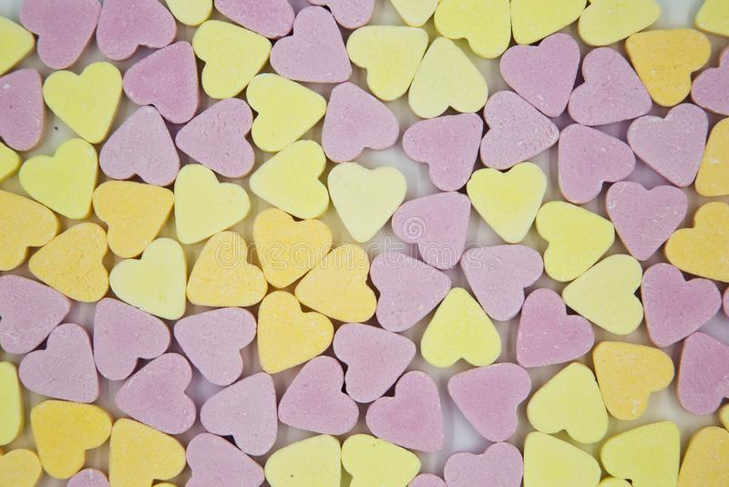 Colourful Candy Hearts Background stock photo