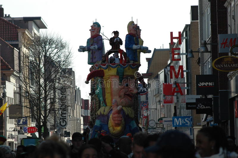 A colourful carnaval parade in Breda, Holland royalty free stock image