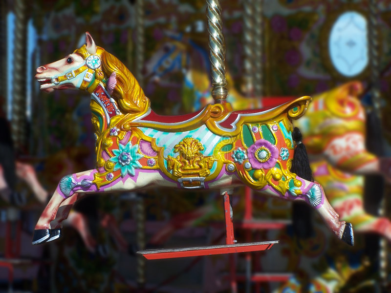 Download Colourful Carousel stock photo. Image of kids, horse, pony - 225384